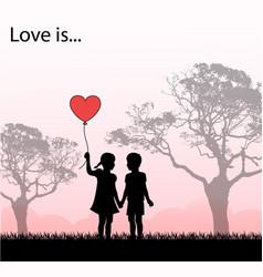 loving kids loving kids vector image vector image