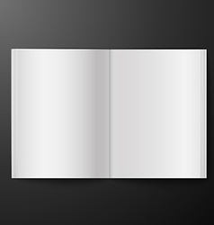 magazine blank on black background vector image