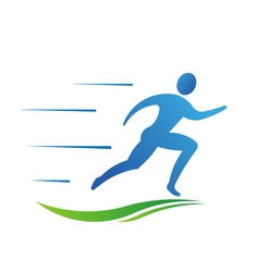 Man running fast Abstract concept of fast activit vector image vector image
