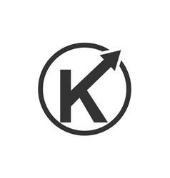 modern logo solution letter k vector image