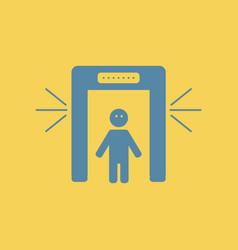 People scanner airport scanner vector