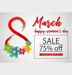 8 march sale template vector image