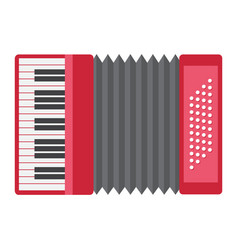 Accordion flat icon music and instrument vector
