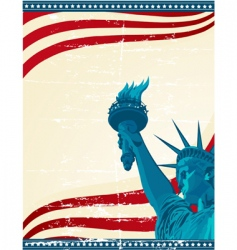 america poster template vector image