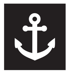 anchor icon blackbackground vector image