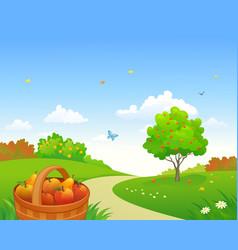 Apple garden vector
