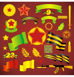 Army day holiday element set no transparent vector