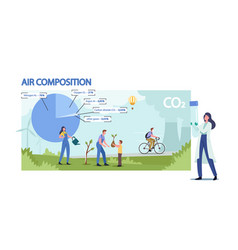 Atmospheric air composition ecological concept vector