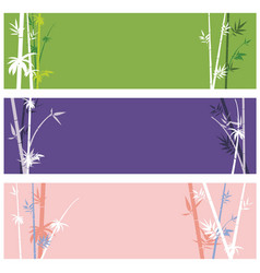 Banner with bamboo branches vector