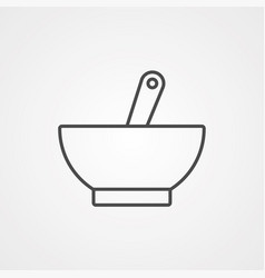 bowl icon sign symbol vector image