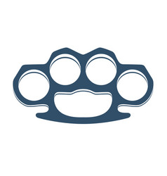 Brass knuckles isolated on white vector