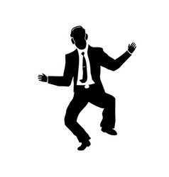 businessman silhouette of a man in a suit and tie vector image
