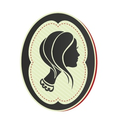 cameo lady short hair vector image