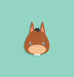 cartoon donkey face vector image