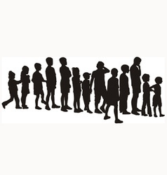 Children waiting in the crowd vector image