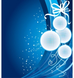 Christmas back blue vector image