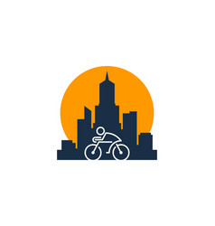 city bike logo icon design vector image
