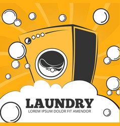 Cleaning service and laundry concept vector