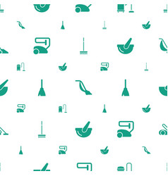 Cleanup icons pattern seamless white background vector