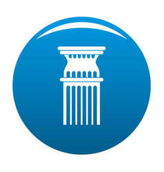Column icon blue vector