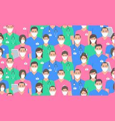 coronavirus pandemic seamless vector image
