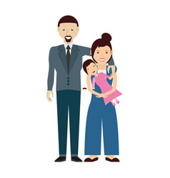 Couples family baby vector