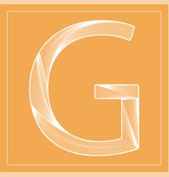 Decorative font stylized letter g vector