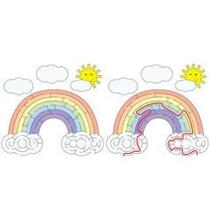 Easy rainbow maze vector