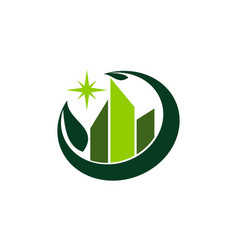 eco building logo design template vector image