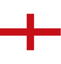 flag england standard proportion in color mode vector image