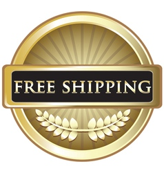 Free shipping gold emblem vector