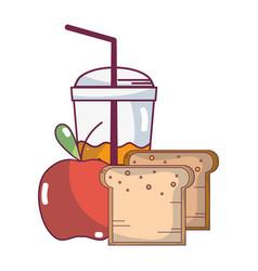 fruit smoothie cartoon vector image
