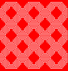 Geometric pattern red vector
