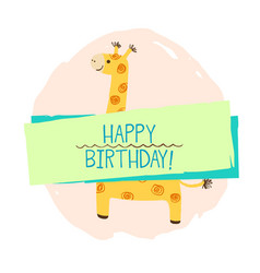 girafe element of card vector image