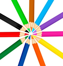 group with color pensil vector image