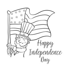 Happy independence day cute style vector