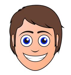 happy man avatar vector image