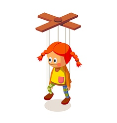 Icon marionette vector