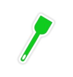 Icon sticker realistic design on paper kitchen vector