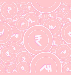 Indian rupee copper coins seamless pattern intere vector