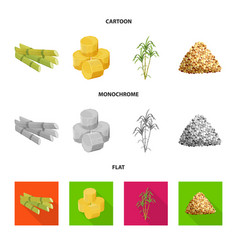 Isolated object farm and agriculture icon set vector