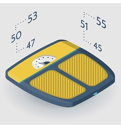 isometric flat of floor scales vector image