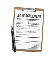 lease home rent blank document lease vector image