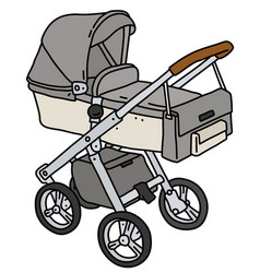 Light gray stroller vector
