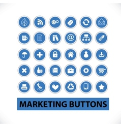 Marketing buttons icons set vector