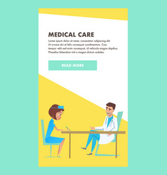 medical care consult hospital examination banner vector image