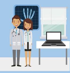 Medical doctors icon vector