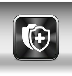 Medical Shield Icon shield flat health cross vector image