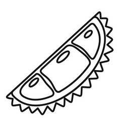 natural eco durian piece icon outline style vector image