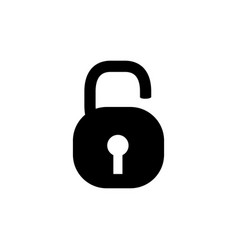 open lock icon in flat style for apps ui websites vector image